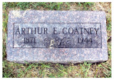 Arthur Eugene Coatney was the eldest child of 6 born to, William Henry Coatney & his wife, Nancy Elizabeth [WELLS] Coatney. He was born in, Endicott, Jefferson, NE on 30 December 1871. he died in Nowata, Nowata, OK, on 25 Jun 1944, & is buried in Nowata Memorial Cemetery, Nowata, Nowata County, Oklahoma. This picture was taken from Findagrave.com.