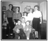 George Raymond Mattson was the 2nd of 6 children & the eldest son born to, George Emil & Alma Alena [JOHNSON] Mattson on, 10 August 1920. On 28 July 1956, In Newberry, Luce, MI, he married, Louise Pauline [ROBINSON] Hetrick. Together, this couple shared three children. Shown above left to right, top to bottom, we see: Gerald Everett, John T., Barbara Jean, & Cindy Lou, HETRICK, standing with their mother, Louise Pauline [ROBINSON] Hetrick, Mattson. Shown sitting are: Rodney, George Raymond, & Gregory A. Mattson.
