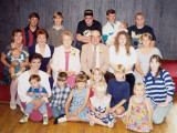 This is a shot of Harold Everett Robinson & his wife, Lucille Alena [Mattson] Robinson, during a celebration for their 50th wedding ceremony. They are surrounded by some of their grandchildren & great grandchildren. I have absolutely no idea who is who here, except a couple of people. Harold & Lucille are obvious. My wife, Salena Marie [Robinson] Mann, is shown second row, far right. Her brother, David Arthur Robinson Jr., is pictured top row, second from the left. This shot was donated for our use here by, Amy Lynn [Robinson] Piar. Thanks Amy.