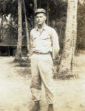 Shown above is Sergeant V.F. Merrill, while serving on Cabu Island, Phillipines during World War II.