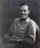 Shown above is Sergeant Verne Floyd Merrill, while serving in Okanawa Nippon (Japan) after World War II.