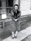 Shown above is a shot of my grand aunt standing outside the Merrill family home. I believe this picture was taken shortly before her marriage to Jack Schrader.