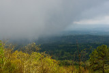 Fog moving in on Cheaha Mountain