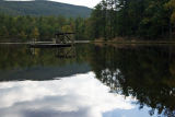 Diving Ramp and reflections on Cheaha Lake