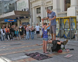 19 Feb 09 - Eric lies on a bed of nails
