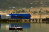 Akaroa Harbour early winters morning