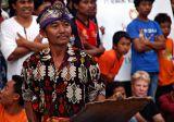 Traditional stick fighting in Sengiggi, Lombok