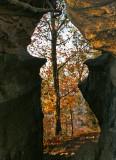Pinnacle west  split in the summit rock