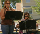 Katie and Cheryl in Grossen Family Band