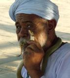 Crazy Snake guy- Edfu, Egypt