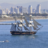 Sailing past Point Loma