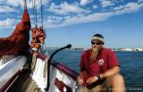 Sailor aboard the American Pride