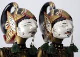 Wayang Golek Puppets -Nakula and Sadewa