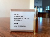 German 7.62mm NATO cartridges