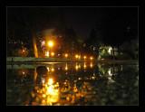 A wet night in the neighborhood...
