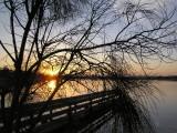 October sunrise over the lake