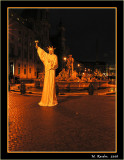 Night in Rome, Plaza Navona_402a