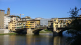 Our hotel is on the Arno, just a few buildings down from the Ponte Vecchio.