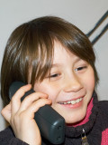 2009-01-23 Nicole on the phone
