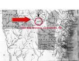 1822 Map Showing Jacksonville, Ga.