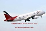 TACA A320-233 N680TA in TACA's new paint scheme airline aviation stock photo #2219