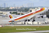 2008 - Iberia A340-313 EC-GLE departing MIA aviation airline stock #2225