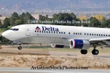 2008 - Delta Airlines B737-832 N3736C landing at Colorado Springs airline aviation stock photo #2669