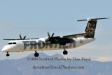 2008 - Frontier Airlines (Lynx Aviation) DHC-8-402Q Dash 8 N506LX landing at Colorado Springs aviation airline stock photo #2687