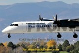 2008 - Frontier Airlines (Lynx Aviation) DHC-8-402Q Dash 8 N506LX landing at Colorado Springs aviation airline stock photo #2690