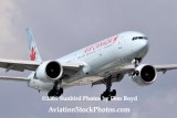 2009 - the first B777-300 to ever land at Miami:  Air Canada B777-333/ER C-FIUR airline aviation stock photo #3115