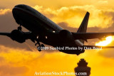 2009 - American Airlines B737-823 taking off at sunset aviation stock photo #3265