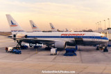 1988 - Piedmont B767-201(ER)'s at Charlotte Douglas International Airport, NC aviation stock photo