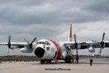 1984 - Coast Guard HC-130H #CG-1703 at MIA after emergency diversion landing military stock photo #CG8401