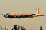 Historical Flight Foundations's restored Eastern DC-7B N836D flyby aviation stock photo #6384