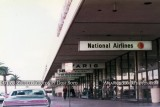 1973 - National Airlines curbside at the International Terminal at Los Angeles International Airport