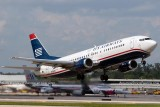 2012 - US Airways B737-401 N424US lifting off from runway 13 at FLL aviation airline stock photo #1694