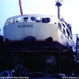 1970 - USCGC DILIGENCE (WMEC 616) in drydock at the Coast Guard Yard photo #CG70 CGC Diligence 2