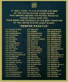 2002 - Plaque honoring Coast Guard personnel serving on Patrol Frigates during World War II photo #1839