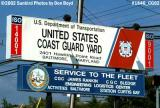 2002 - Entrance sign for the Coast Guard Yard photo #1846
