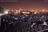 The fans at the stock car races at Hialeah Speedway shortly before it closed stock photo #2797