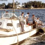 1967 - BM3 Alfred Hill, SN Mike Doller, SN Bruce, CS2 Pattison, EN3 Smith, SN Dennis Stuver at CG Station Lake Worth Inlet
