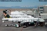 Frontier Airlines A319-112 N943FR and other Frontier aircraft on the DEN ramp airline aviation stock photo #9115