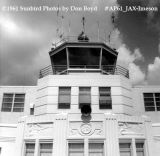 1961 - Terminal and ATCT at Jacksonville's Imeson Airport aviation stock photo