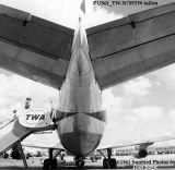 1961 - Passengers deplaning TWA B707-131 N739TW aviation stock photo