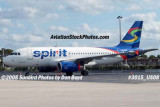 2008 - Spirit Airlines A319 N506NK airline aviation stock photo #3015
