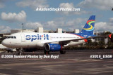 2008 - Spirit Airlines A319 N505NK airline aviation stock photo #3016