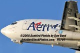 2008 - Aerogal B737-2Y5/Adv HC-CER takeoff from MIA airline stock photo #0707