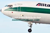 Alitalia Cargo MD-11F EI-UPU on approach to MIA aviation airline stock #1159