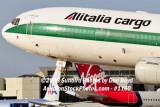 Alitalia Cargo MD-11F EI-UPU on approach to MIA aviation airline stock #1160