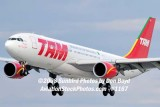 2008 - TAM Airbus A330-203 PT-MVF on approach to MIA aviation airline stock #1167